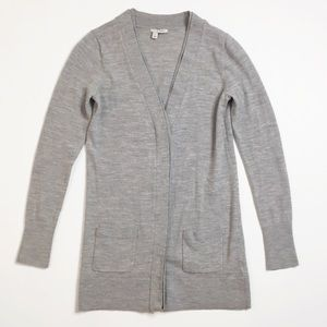 Halogen Merino Wool Button Down Cardigan